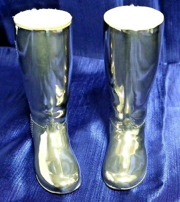 Vtge. Silver Plated/EPNS Pair Of Boots.Drinks Measures. 1 oz & 1.5 oz.Grenadier.