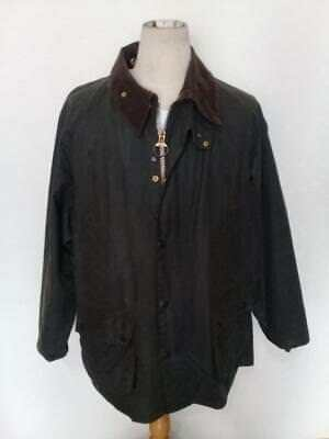 Mens BARBOUR Bedale WAXED Jacket Green Size 44