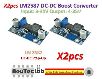 2pcs LM2587 DC-DC Boost Converter 3-30V Step up 4-35V Power Supply Module MAX 5A