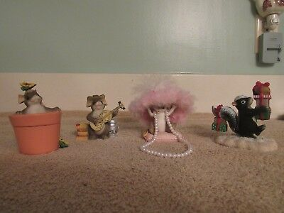 Lot of 4 Charming Tails Figurines Fitz & Floyd