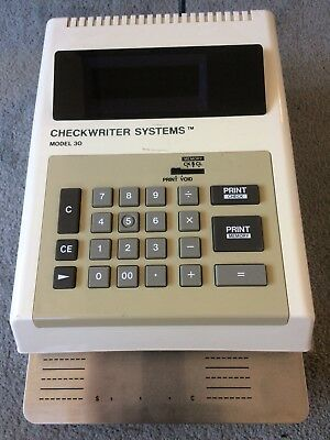 CHECKWRITER SYSTEMS Rayco, Inc. Model 30 Electronic - VG