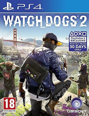 Watch Dogs 2 (PS4) - PRISTINE & IMMACULATE - Super FAST & QUICK Delivery FREE