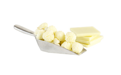 Flavored Popcorn White Chocolate (Choose Bag Size)