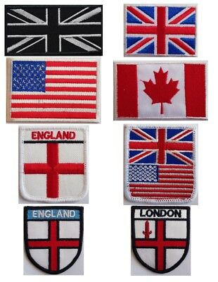 National Country Embroidered Flag Sew/iron On Patch Choose Your Country