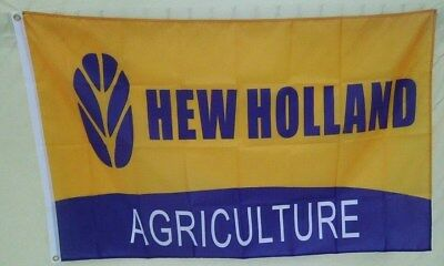New Holland Tractor 3' X 5' Polyester Flag Banner Farm Equipment NEW # 225
