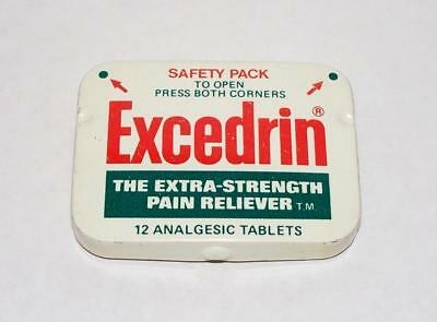 Vintage Excedrin Extra Strength Pain Reliever Empty Tin Bristol-Myers Co