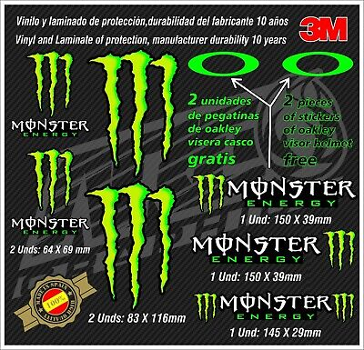 Decal-stickers-pegatinas-aufkleber-autocollants-adesivi,Set Monster Helmet