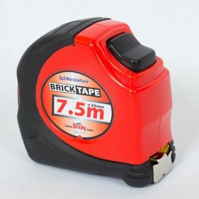 Brick Mate Tape Measure 7. 5m (25mm Wide) - Bricks Blocks Metric