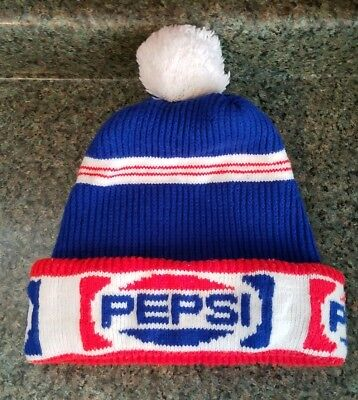 bd352a10041 VINTAGE PEPSI WINTER Knit Hat 1970s -  17.99