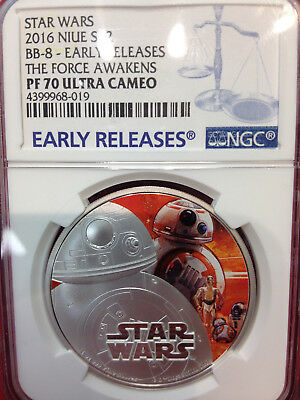 2016 Star Wars BB-8 PF70 THE FORCE AWAKENS Color Ultra Cameo Early Releases