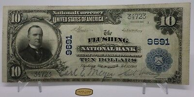 Series 1902 National Currency FLUSHING NY Bank Note $10, Large Size - #B11026