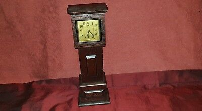 EARLY 20th Century Miniature Oak Grandfather  Clock .. Hand Made