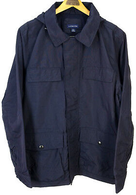 Lands End Men's Navy Light Wind Rain Jacket Coat Men's Large 42-44