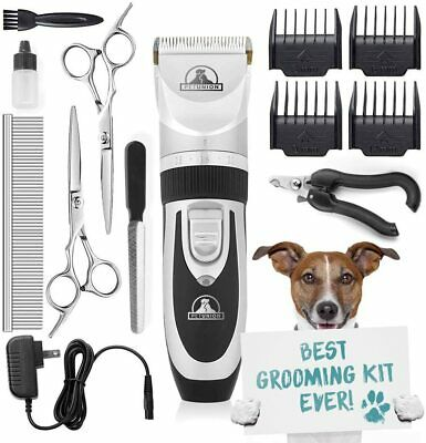 Rechargeable Cordless Cat and Dog Grooming Clippers, Professional Pet Hair Groom