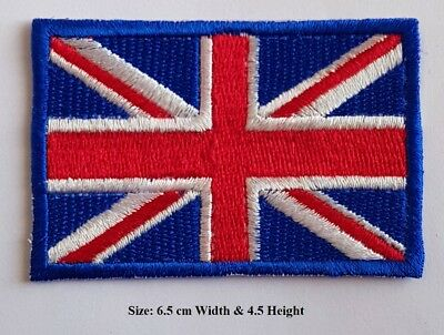 Embroidered Iron On Color UK Flag Patch Sew On Union Jack British Badge Applique