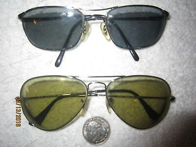 2 Ray-Ban AVIATOR METAL eyeglasses vintage BIG college WOMEN MEN hollywood PILOT
