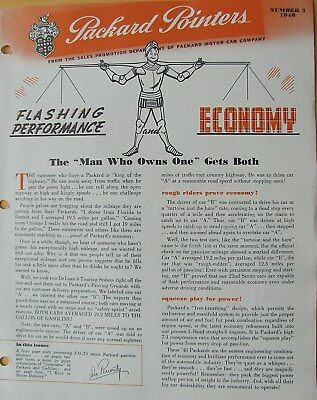 1948 Packard Pointers Sales Bulletin No. 2     FREE SHIPPING !