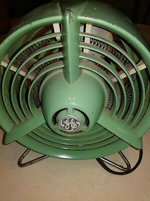 "Vintage General Electric Art Deco Heater Fan 9"" ""used To Work""really Cool"