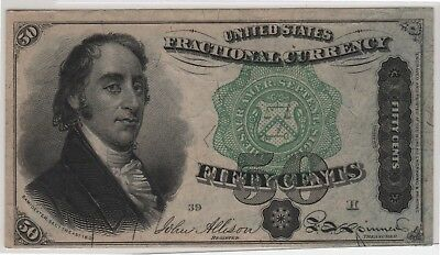 1863 US Fractional Currency FIFTY CENTS Fourth Year Issue, 1863 50 cents FR1379