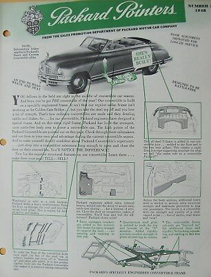 1948 Packard Pointers Sales Bulletin No. 3     FREE SHIPPING !