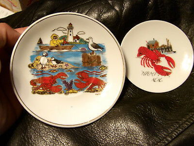Lobster Plate / Saucer Hampton, New Hampshire Lobster  / Maine Lobster Plate Lot