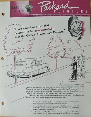 1949 Packard Pointers Sales Bulletin No. 11  FREE SHIPPING !