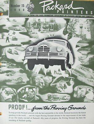 1950 Packard Pointers Sales Bulletin No. 15   FREE SHIPPING !