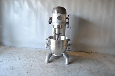 Used Hobart H-600 60 Qt Commercial Mixer,New StainlessSteel Bowl, Free Shipping