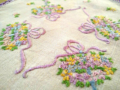 Gorgeous tiny Umbrellas filled with flowers/bows ~ Vintage Hand Embroidere Doily
