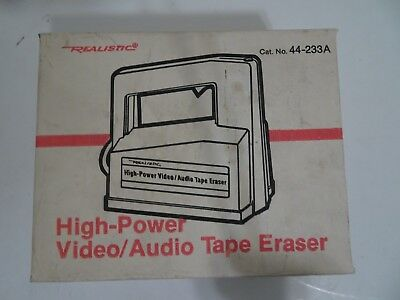 Radio Shack Video Audio Realistic High-Power Bulk Tape Eraser 44-233 - New