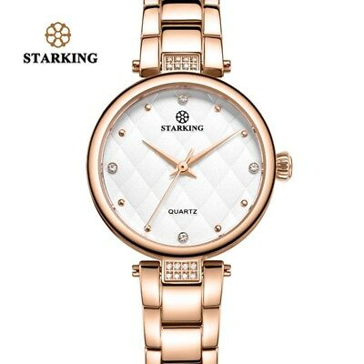 STARKING 2018 Fashion Women Dress Watches Luxury Casual Rhinestone Quartz Watch