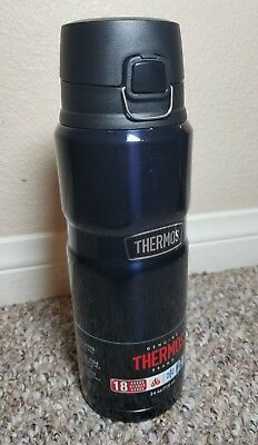 Thermos Stainless King Insulated Steel Water Bottle Travel Tumbler 24 oz Navy