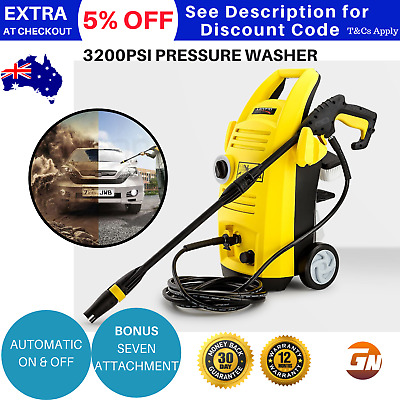 High Pressure Cleaner Washer Electric Water Blaster Hose Pump 3200PSI