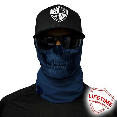 MOTORCYCLE FACE MASK - NAVY SKULL - (Motorbike, Hunting, Fishing, Paintball)