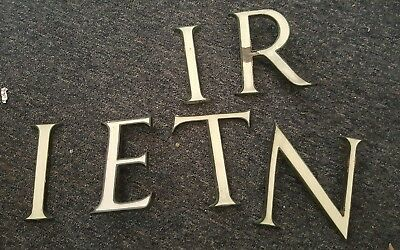 Late 19th - Early 20th Century White/Green Enameled Copper Dept Shop Letters