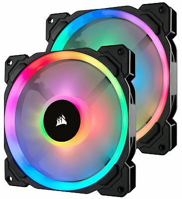 Corsair 140mm LL140 Dual Light Loop RGB LED PWM Fan Lighting Node PRO  2-Pack