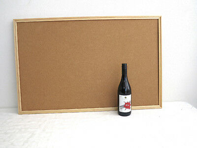 Large framed cork board / pin board for home office/child's room, 900mm x 600mm