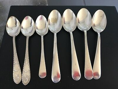 Vintage Grosvenor Silverplate EPNS Super A1 Teaspoons x 5 and Hallmark teasp x 2