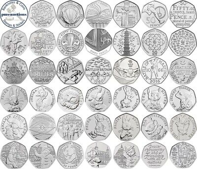 Various Uk Gb Commemorative 50P Fifty Pence Coins - Select From List 1998-2019