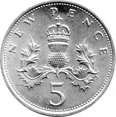 1990-2019 Uk Gb Decimal 5P Five Pence Coins - Select Dates From List