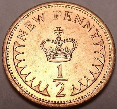 1971-1984 Uk Gb Decimal Old 1/2P Half Penny Pence Coins - Select Dates From List