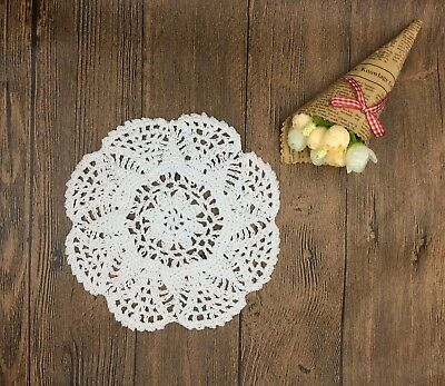 1Pc cotton hand crochet 19-20cm doily round cupmat mat home decor craft parts