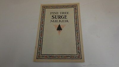 1924 Pine Tree Surge Milker Vintage Milk Machine Agriculture Cows Trade Catalog