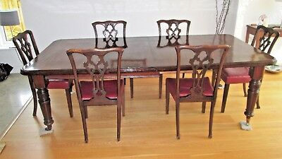 Antique Victorian Mahogany extending Dining Table Seats 8/10 People