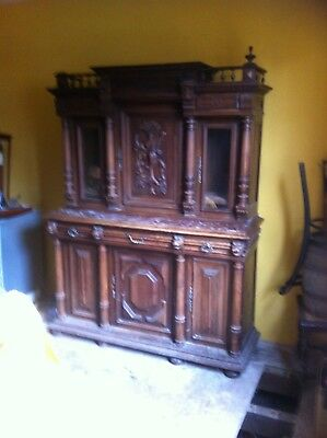 Very Large Carved Buffet / Sideboard Dresser Victorian Gothic Style
