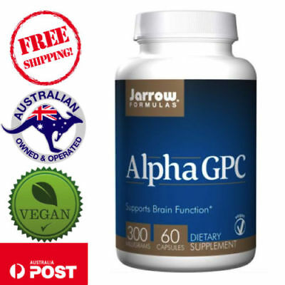 Alpha GPC 300 mg 60 Vegan Caps by Jarrow Formulas Protects Brain Function