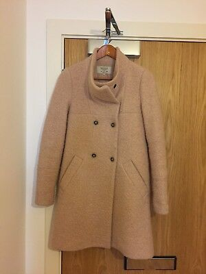 6781b7431 ZARA WOOL WINTER Coat Size 8   Small Baby Pink - £30.00