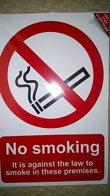 Scan 567 No Smoking It Is Against The Law To Smoke In These Premises 200 x 300mm