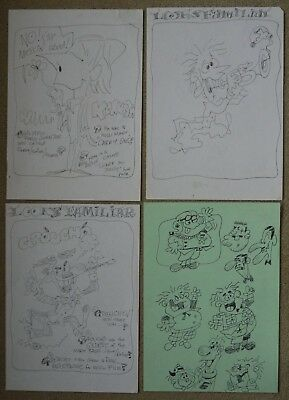 Denis Gifford Original Art Sketches/doodles