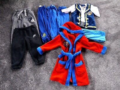 Boys Clothing Bundle Age 2-3 Years Joggers, Dressing Gown 8 Items